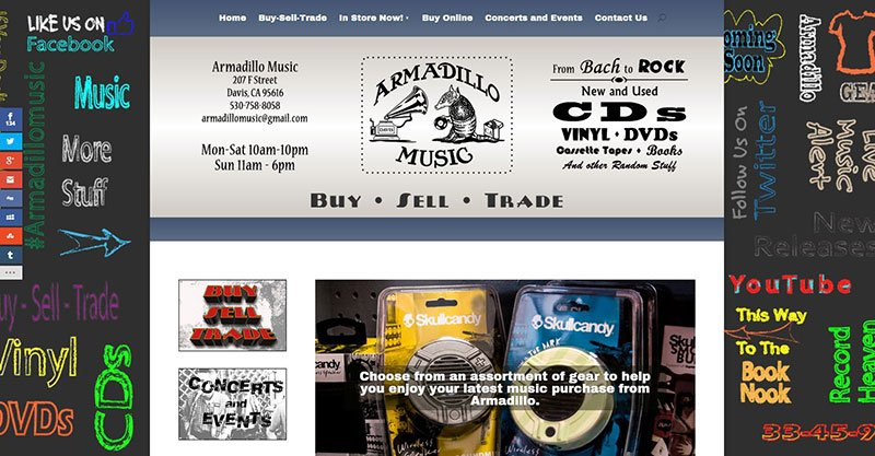 Armadillo Music Website
