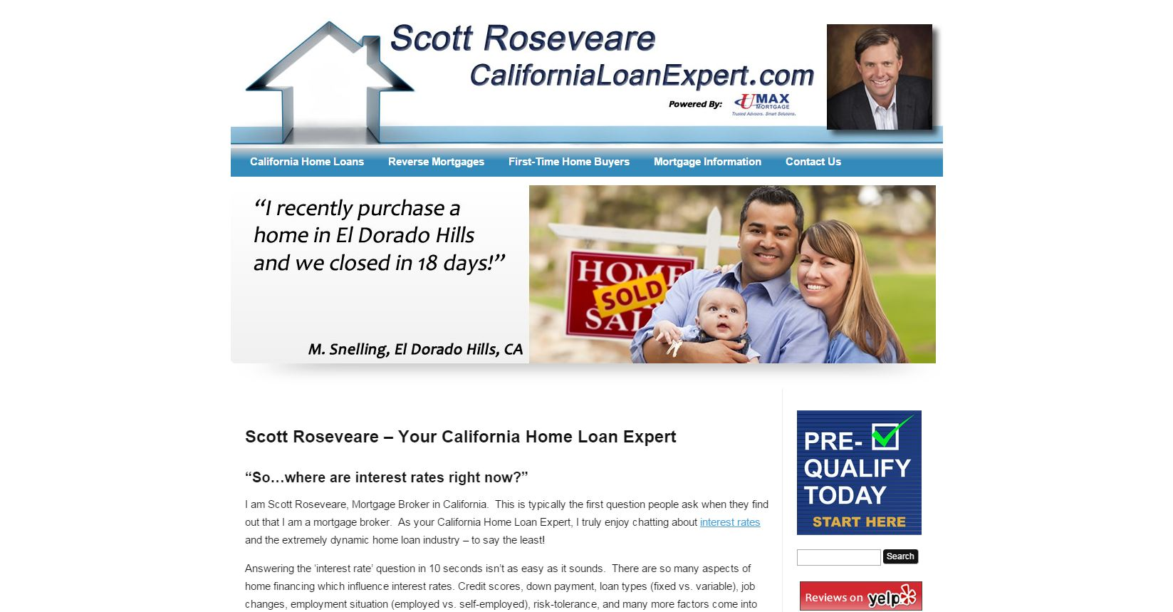 Screenshot of CaliforniaLoanExpert.com