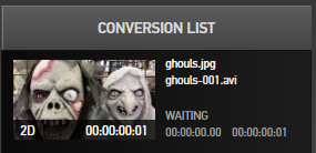 Conversion List in GoPro Studio