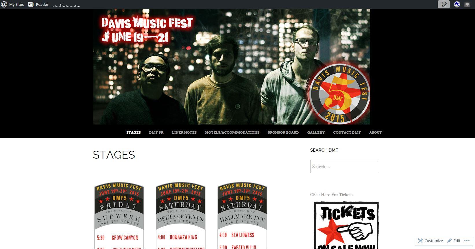 Screenshot of DavisMusicFest.com