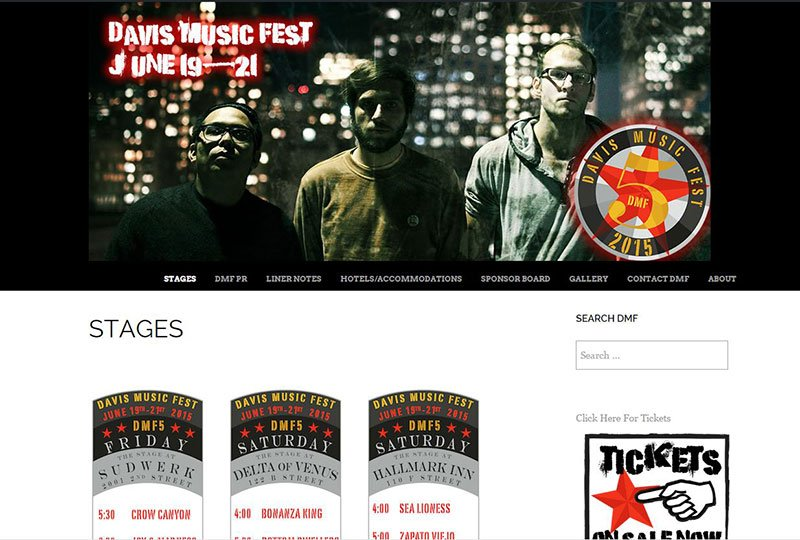 Davis Music Fest Website