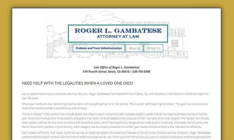 Roger Gambatese Law Website