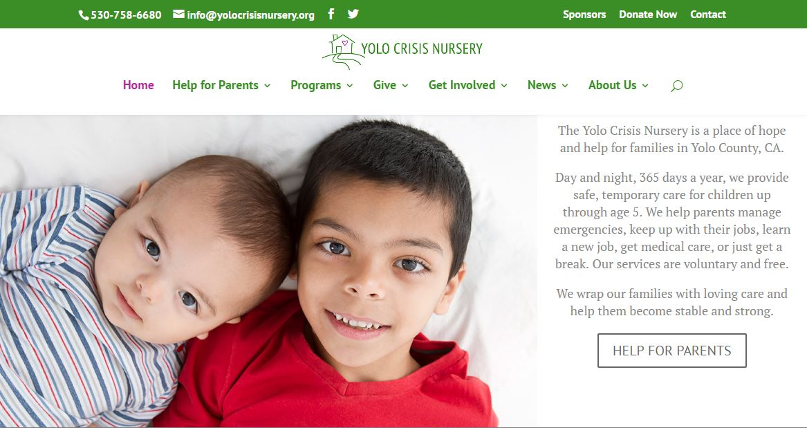 Yolo Crisis Nursery Website