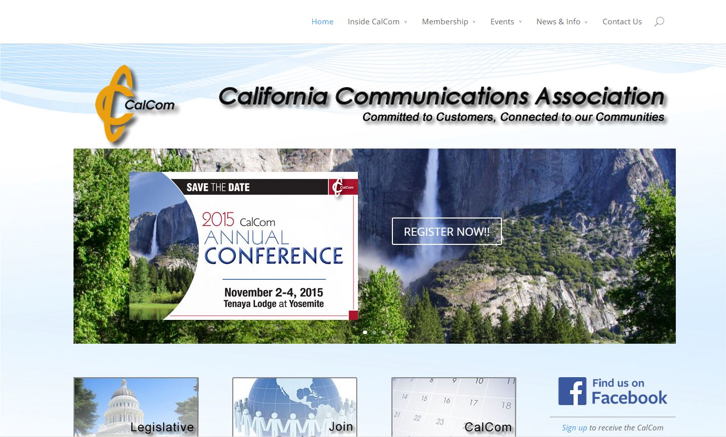 Screenshot of CalComAssn.org
