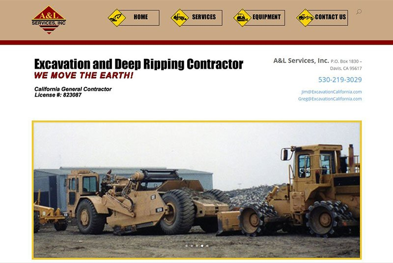 Excavation California Website
