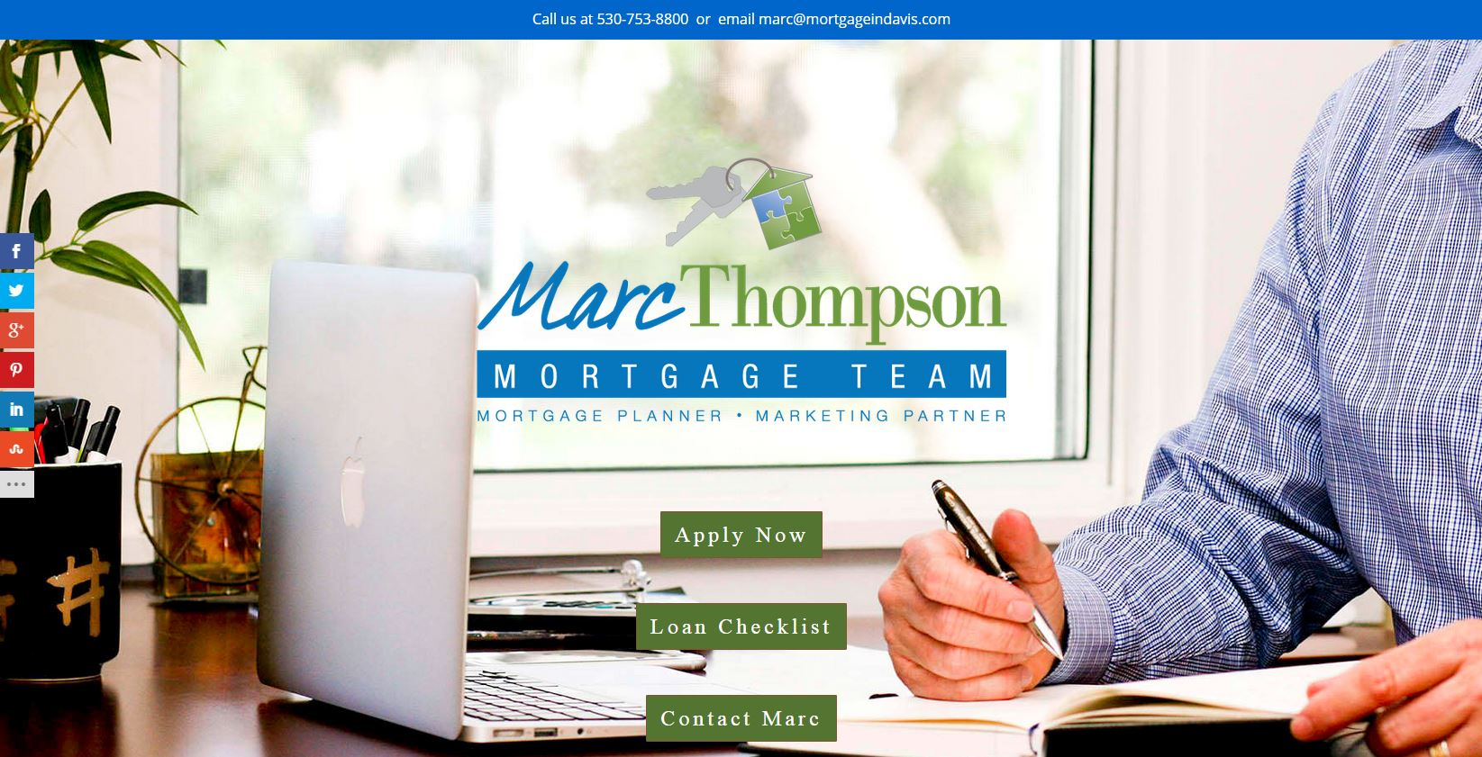 Screenshot of MortgageInDavis.com