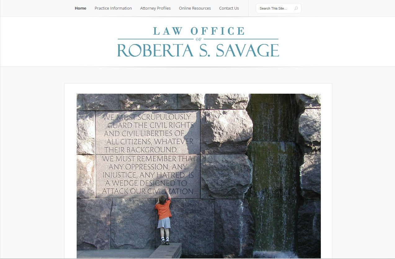 Screenshot of RobertaSavageLaw.com