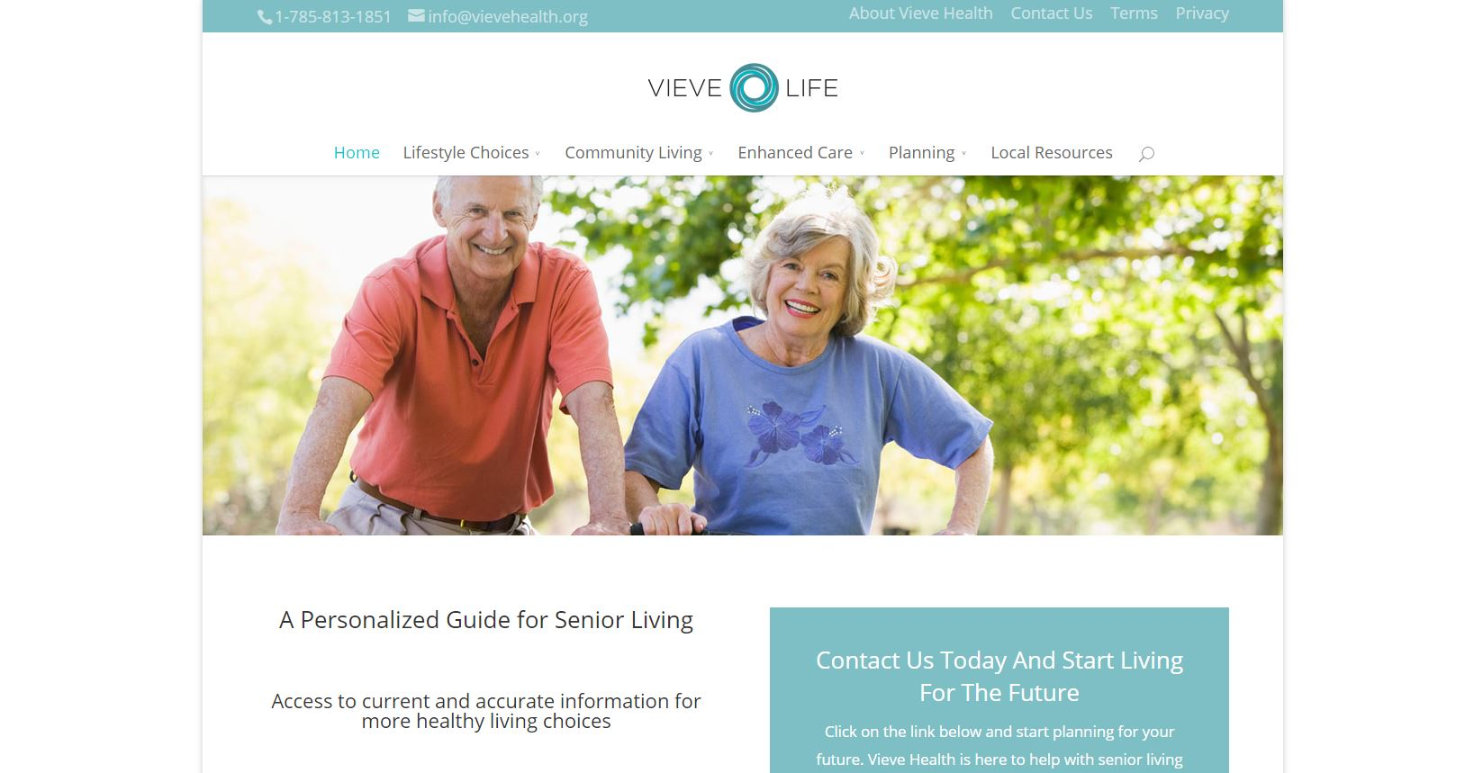 Image of Vieve Health Homepage